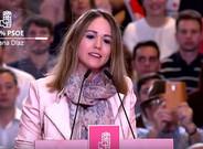 Estela Goikoetxea durante su intervención en el acto de postulación de Susana Díaz a lasprimarias del PSOE.
