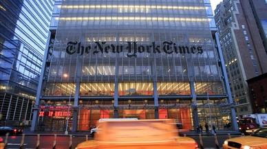 Exterior de la sede del 'New York Times' en Nueva York, en una imagen de archivo.