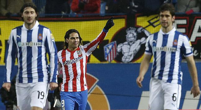 El Espanyol tropieza en el Calder�n y cae de penalti ante el Atl�tico (1-0)