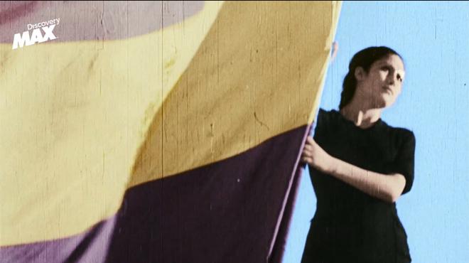 Imagenes documentales de la guerra civil tras ser coloreadas digitalmente para un proyecto documental del canal Discovery Max.