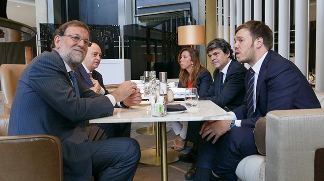 Mariano Rajoy, en el foro Primera Plan@ que organiza EL PERIÓDICO.