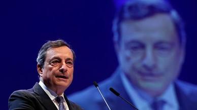 Mario Draghi, presidente del BCE, ante la prensa el pasado mes de junio.