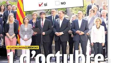 El referèndum català parteix el quiosc en dos