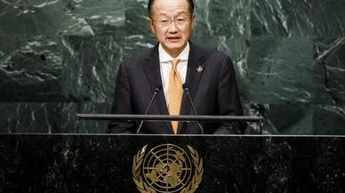El presidente del Banco Mundial, Jim Yong Kim, durante una intervenci�nen la ONU.