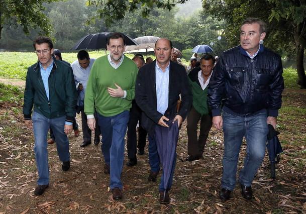 Rajoy, vacaciones pasadas por agua