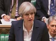La primera ministra, Theresa May, el miércoles en el Parlamento birtánico.
