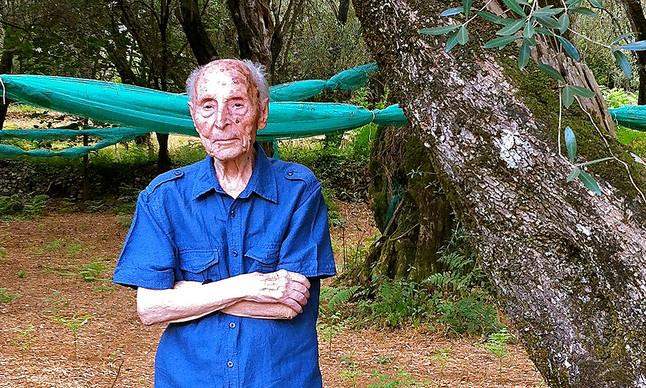 Salvatore Caruso, el segundo hombre más viejo de Italia, con 108 años.