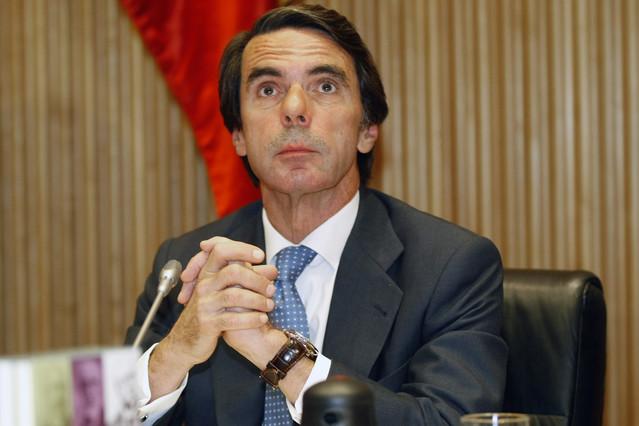 Aznar, durante la presentación de un libro de la FAES el pasado año