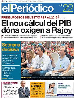 La portada<br>d'EL PERI�DICO