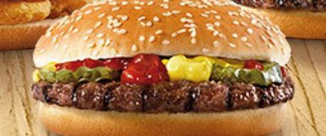 Una de las hamburguesas de Burger King.