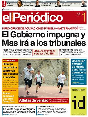 La portada de<br>EL PERI�DICO