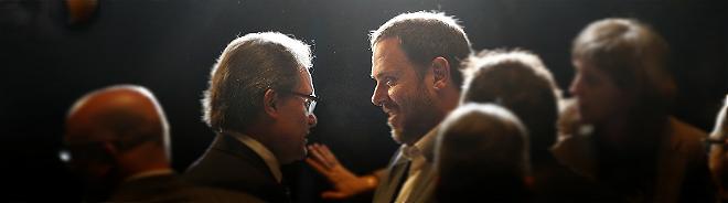 El 'president' Mas y el l�der de ERC, el martes.
