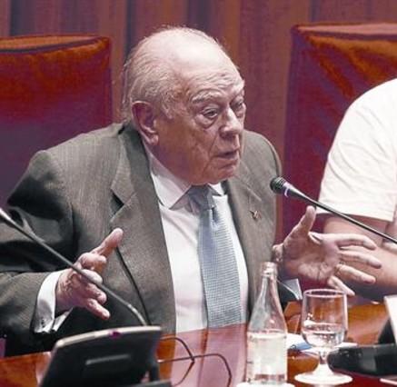 Jordi Pujol en la comparecencia ante la comisión del Parlament.