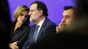 Mariano Rajoy este martes en la junta directiva nacional del PP.
