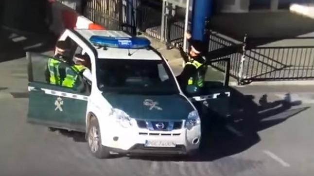 Detenido un hombre al intentar entrar en Gibraltar con un coche robado de la Guardia Civil