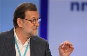 Mariano Rajoy, en un acto del PP en Bilbao.