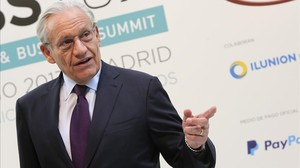 Bob Woodward, este miércoles, en Madrid.