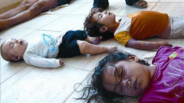 Resultado de imagen de bombardeo químico en Siria