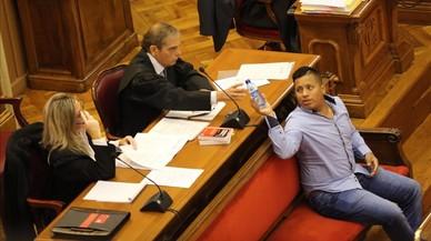 Gilson Bolivar Cabrera, durante el juicio con jurado que se ha celebradoen la Audiencia de Barcelona.