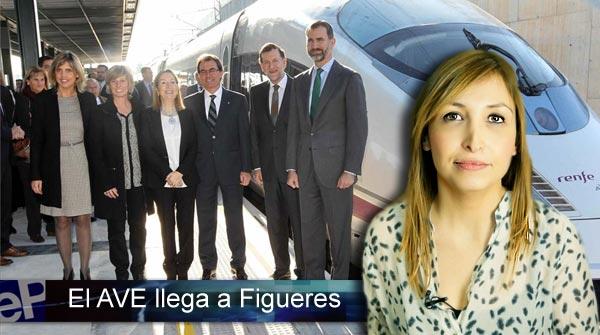 La llegada del AVE a Figueres, en El Informativo