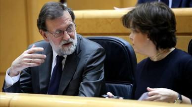 Rajoy y Santamaría buscan complicidades catalanas