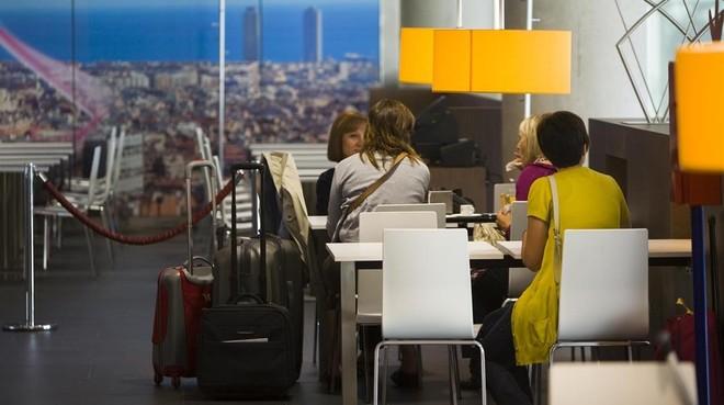 Restaurante en el aeropuerto de El Prat.