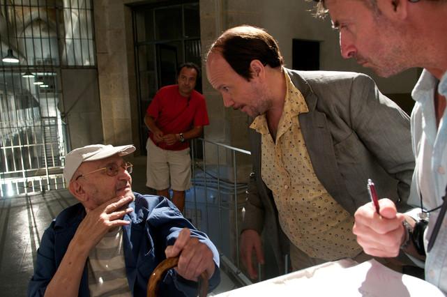 Tony Leblanc en pleno rodaje de 'Torrente 4'.