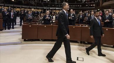 """El Rei defensa una Espanya """"unida"""" i """"plural"""" davant el Consell d'Europa"""