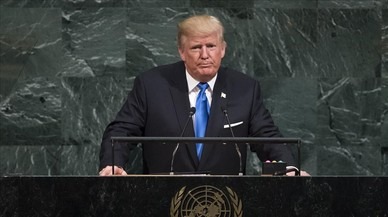 """Trump amenaça de """"destruir totalment"""" Corea del Nord"""