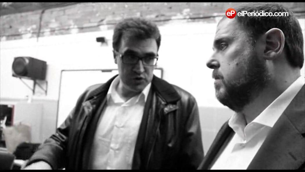 Llu�s Salvad�, cap de campanya d'ERC i n�mero 3 de la formaci�, desvela com �s un dia de treball al voltant del candidat Junqueras.