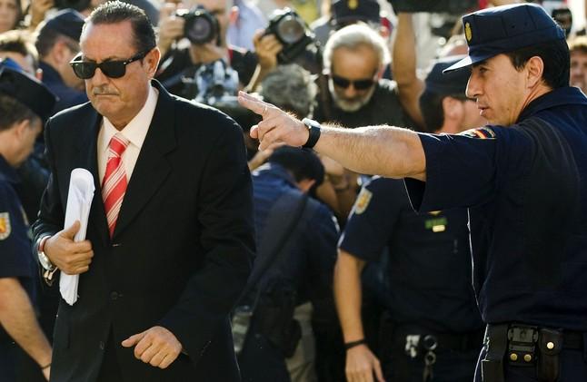 Julián Muñoz, anant a declarar a l'Audiència Provincial de Màlaga, el 2010.