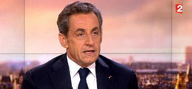 Nicolas Sarkozy, durante la entrevista en la cadena France 2.