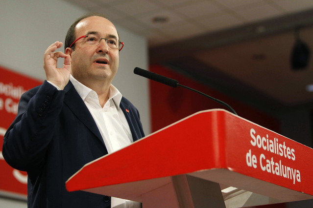 El primer secretari del PSC, Miquel Iceta, presenta linforme polític en el consell nacional del partit.
