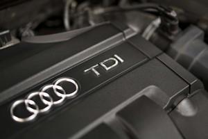 Un motor de lAudi A3 TDI, un dels models dièsel fabricats per Volkswagen.