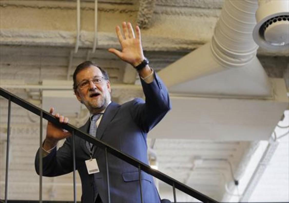 El presidente en funciones, Mariano Rajoy, el martes