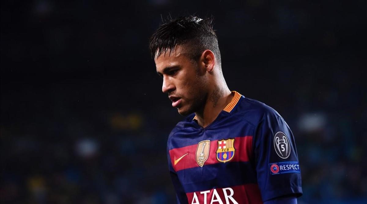 Neymar, durante el partido del Barça contra el Arsenal en el Camp Nou.