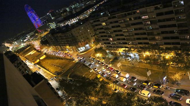 Retenciones por la operación salida en la Gran Via de Barcelona.