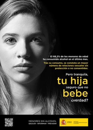 Sanidad retira un cartel que relacionaba el consumo de alcohol de las menores con las violaciones