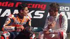 Marc Márquez y Jenson Button este domingo en Japón