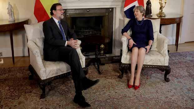 Theresa May a Rajoy: És fonamental que es respecti la Constitució i lEstat de Dret