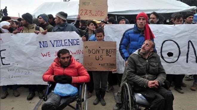 La tensió va en augment a Idomeni amb l'arribada de nous refugiats