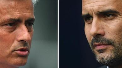 Ansietat a Manchester davant el primer derbi entre Guardiola i Mourinho