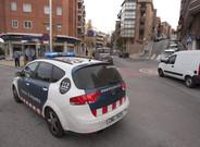 Un coche de los Mossos, en Barcelona
