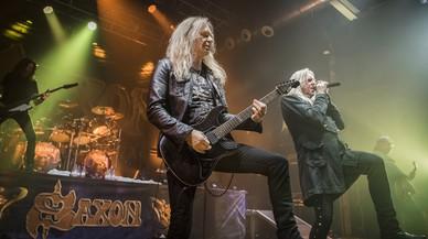 Concert de Saxon a la sala Razzmatazz.
