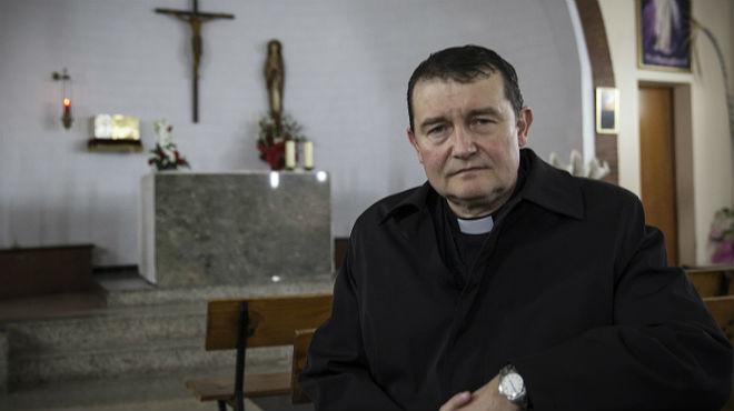 Custodio Ballester, en la parroquia Immaculada Concepció de L'Hospitalet.