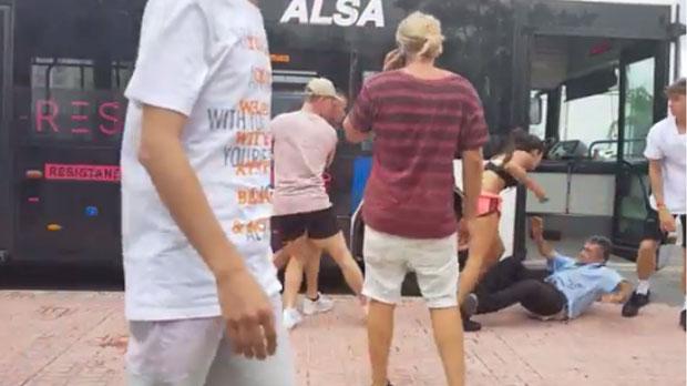 Vídeo de l'agressió al conductor d'un bus a Eivissa