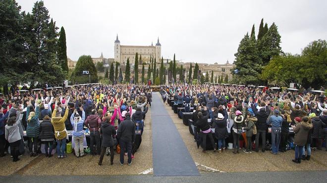 Imagen del 'casting' de 'Masterchef 4' celebrado en Toledo