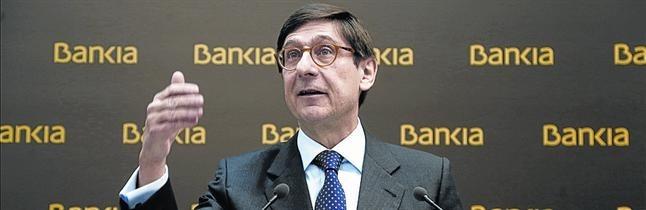 Jos� Ignacio Goirigolzarri, presidente de Bankia, en una presentaci�n de resultados.
