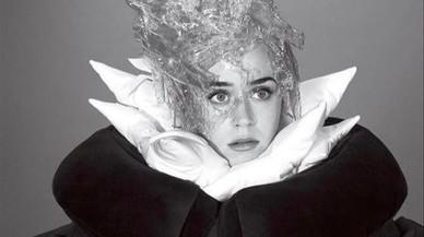 Katy Perry, en la sesión de fotos para 'Vogue'.