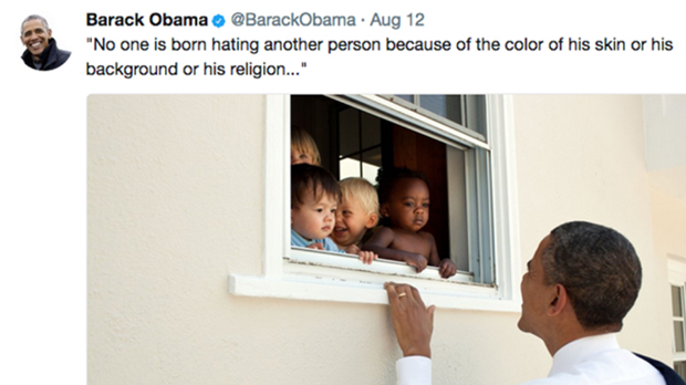 El tuit d'Obama sobre Charlottesville bat el rècord de 'm'agrada'